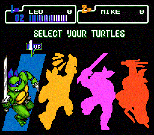 TMNT The Hyperstone Heist - Character Select