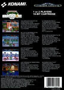 TMNT The Hyperstone Heist Mega Drive Box Back