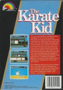 The Karate Kid Box Back