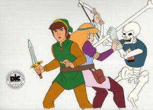 The Legend of Zelda Animated Series - Batt;e Scene Cel