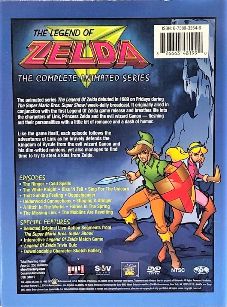 The Legend of Zelda Animated Series DVD Box Back