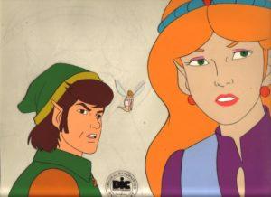 The Legend of Zelda Animated Series - Link and Zelda Cel