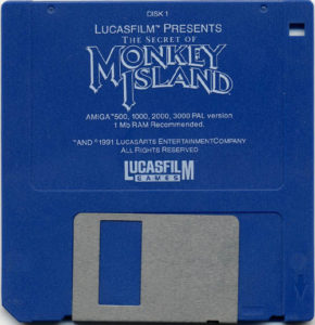 The Secret of Monkey Island Amiga Disk 1 of 4