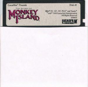 The Secret of Monkey Island DOS Floppy Disk 1 of 8