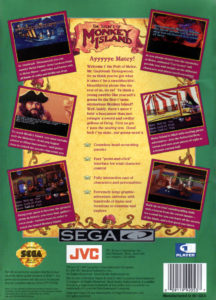 The Secret of Monkey Island Sega CD Box Back