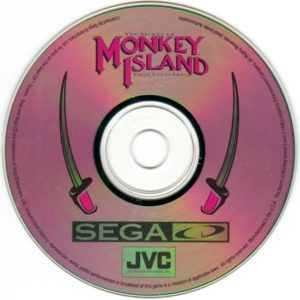 The Secret of Monkey Island Sega CD Disc