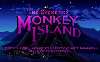 The Secret of Monkey Island - Title Screen