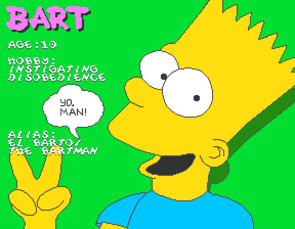 The Simpsons Arcade Game - Bart Profile