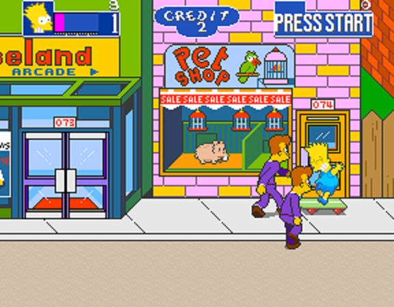 The Simpsons Arcade Game - Bart