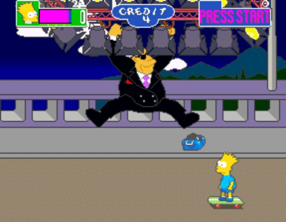 The Simpsons Arcade Game - Boss Battle