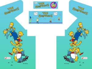 The Simpsons Arcade Game Cabinet Graphics