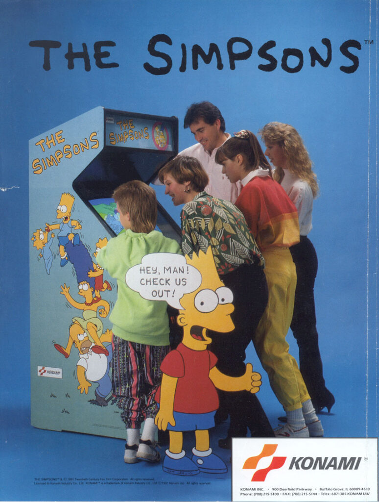 The Simpsons Arcade Game Flyer