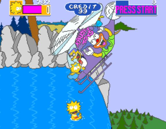 The Simpsons Arcade Game - Helicopter