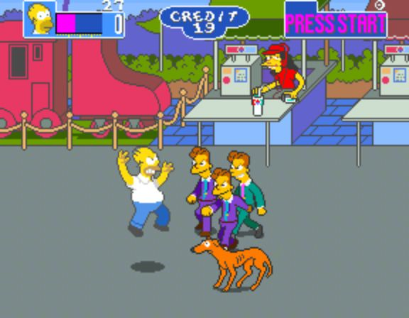 The Simpsons Arcade Game - Homer