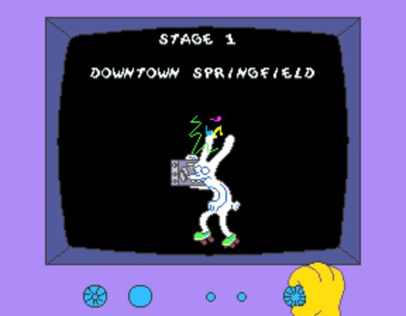 The Simpsons Arcade Game - Stage 1 Downtown Springfield