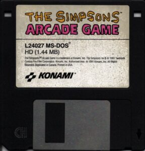 The Simsons Arcade Game DOS Disk