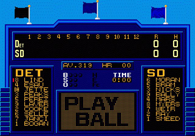 Tommy Lasorda Baseball - Scoreboard