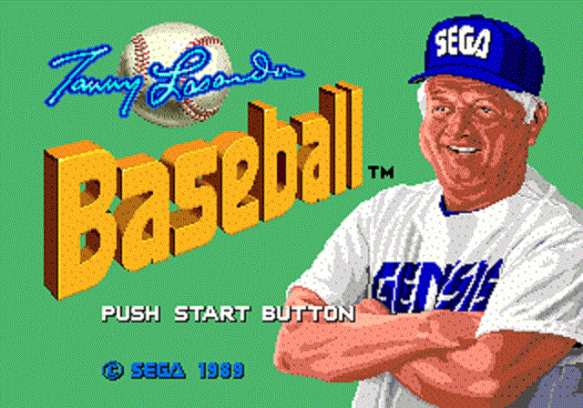 Tommy Lasorda Baseball - Title Screen