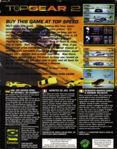 Top Gear 2 Amiga Box Back