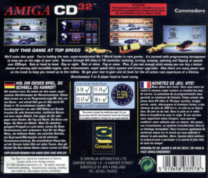 Top Gear 2 Amiga CD32 Box Back