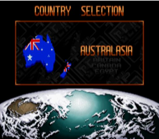 Top Gear 2 - Country Selection Screen