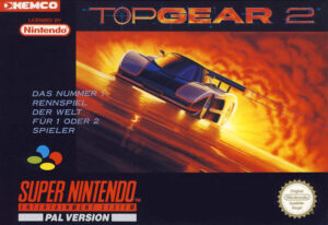 Top Gear 2 European SNES Box