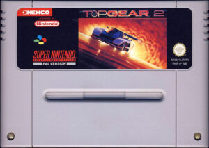 Top Gear 2 European SNES Cartridge