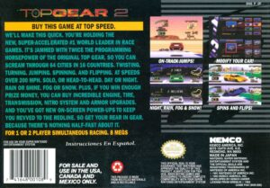 Top Gear 2 SNES Box Back