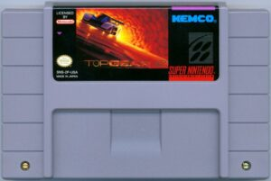 Top Gear 2 SNES Cartridge