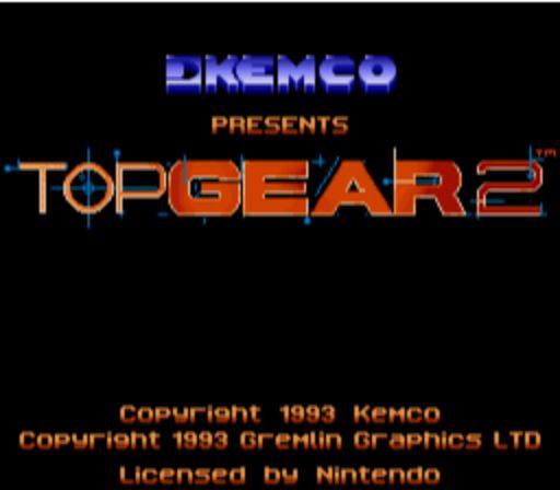 Top Gear 2 - Title Screen