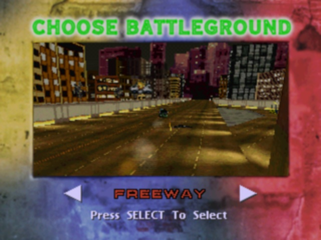 Twisted Metal - Stage Select