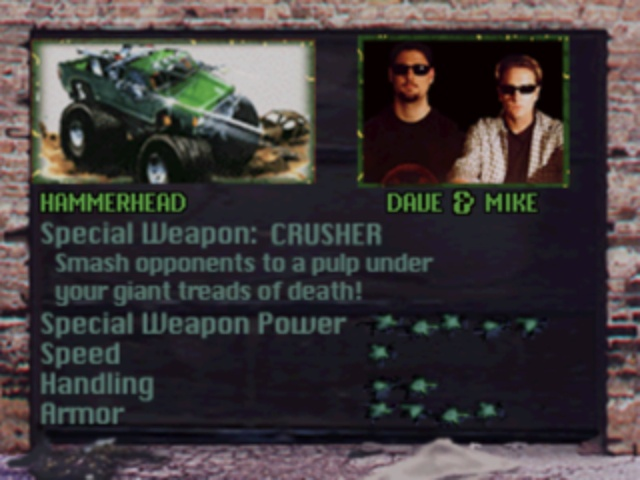 Twisted Metal - Vehicle Information