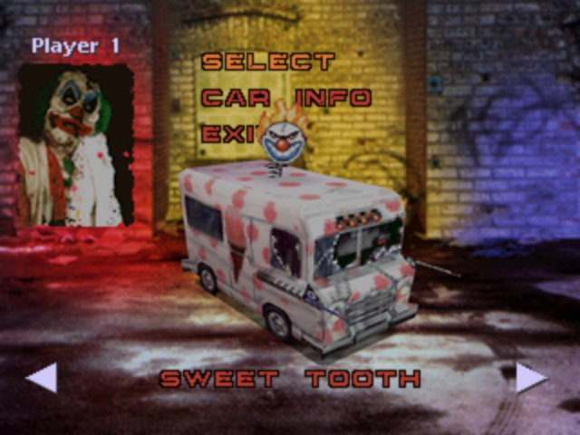 Twisted Metal - Vehicle Select Screen