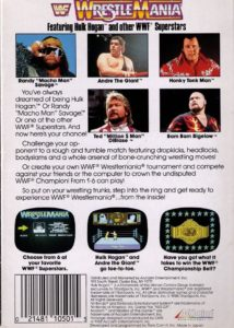 WWF WrestleMania Box Back