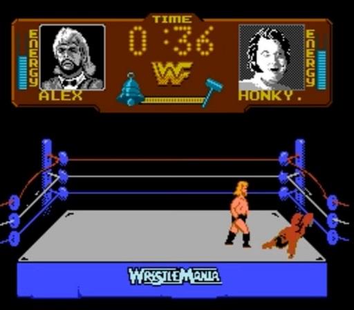 WWF WrestleMania - Honky Tonk Man vs. Million Dollar Man Match