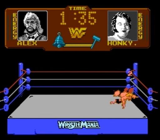 WWF WrestleMania - Honky Tonk Man vs. Million Dollar Man Pin