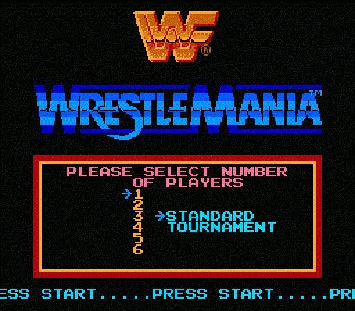 WWF WrestleMania - Main Menu