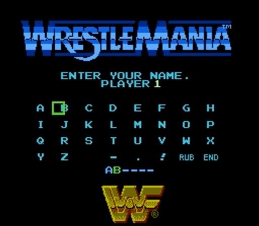 WWF WrestleMania - Name Player