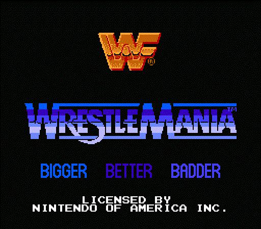 WWF WrestleMania - Title Screen