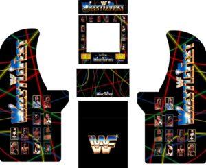 WWF Wrestlefest Arcade Cabinet Decals