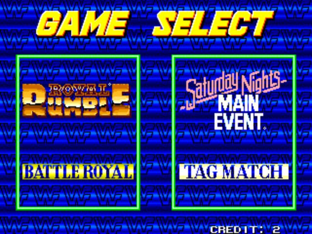 WWF Wrestlefest - Game Selection