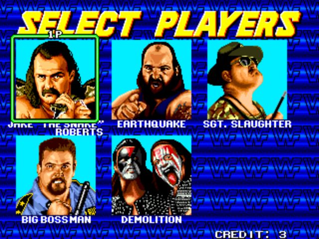 WWF Wrestlefest - Player Select 2