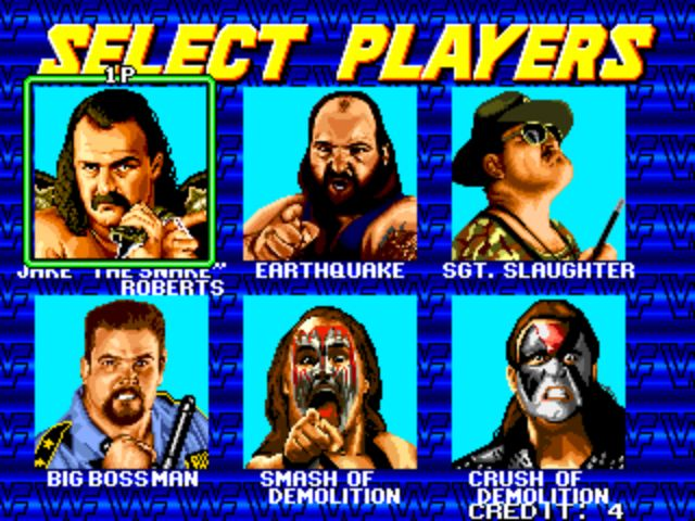 WWF Wrestlefest - Player Select 3