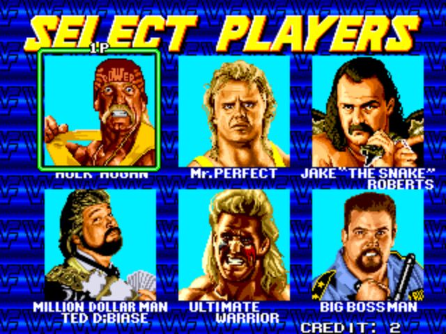 WWF Wrestlefest - Player Select