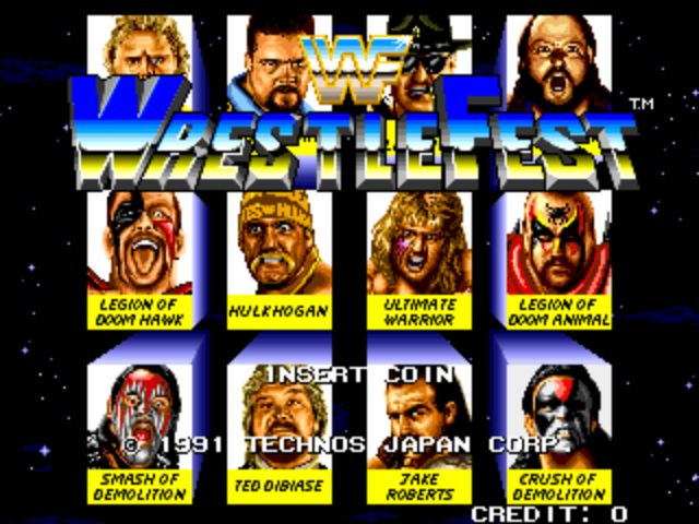 WWF Wrestlefest - Title Screen