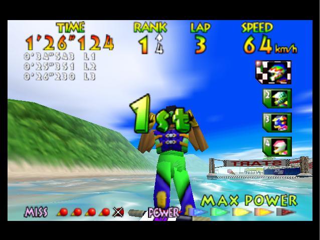 Wave Race 64 - 1st Place