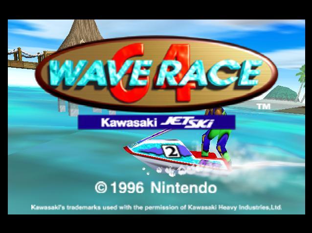 Wave Race 64 - Title Screen