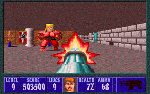 Wolfenstein 3D - Boss Battle