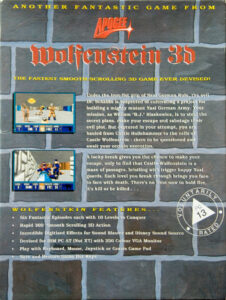Wolfenstein 3D DOS European Box Back