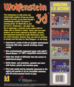 Wolfenstein 3D DOS Mail Order Box Back